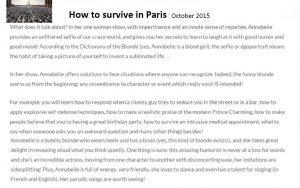 How to survive in Paris - Octobre2015